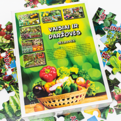 Vaisiai ir daržovės. Dėlionės