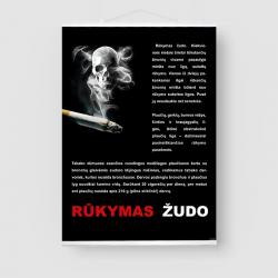 Plakatas. Rūkymas žudo