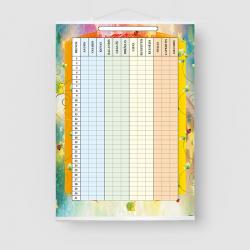 Darbų planavimo lentelė