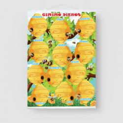 """Gimtadienio plakatas """"Bitės"""""""