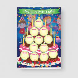 """Gimtadienio plakatas """"Tortas"""""""